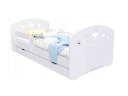 Posteľ Mery Design biela - vzor hviezdička