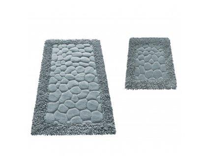 Kúpeľňové koberčeky set Neil 02 - šedé kúpeľňové predložky