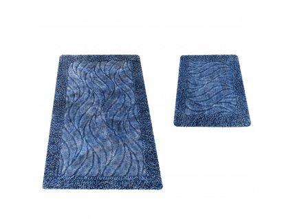 Kúpeľňové koberčeky set Neil 03N - modré koberčeky