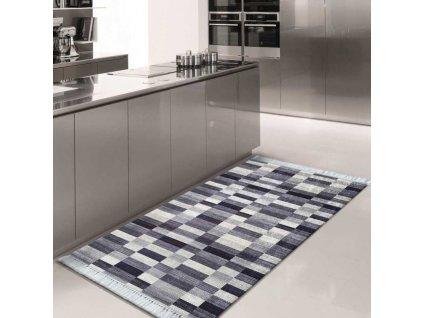Koberec BLAK Grey 01 s geometrickým vzorom