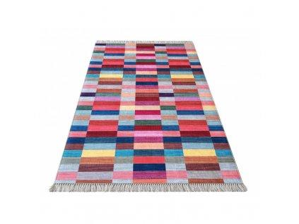 Koberec BLAK Colorful 01 s geometrickým vzorom
