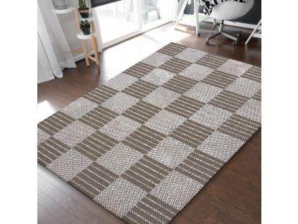 Obojstranný tkaný koberec Harper 01 Brown
