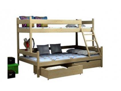 Petra 6 200x120 Poschodová posteľ s rozšíreným spodným lôžkom