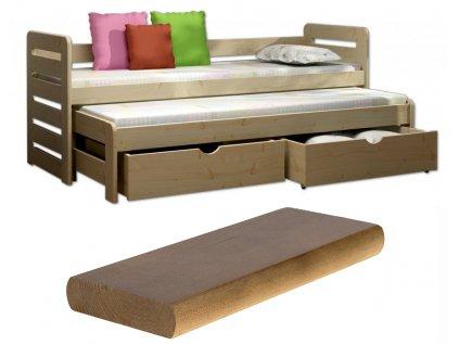 Detská posteľ Veronika 11 200x90 cm s prístelkou - viac farieb