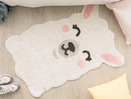 Detský prateľný koberec Lama