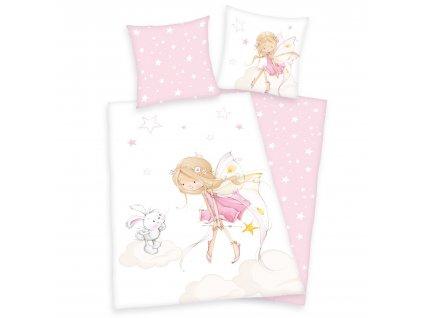 Detské bavlnené obliečky 140x200+70x90 - Little Fairy