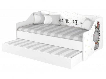 Detská posteľ s prístelkou Wild and Free 160x80