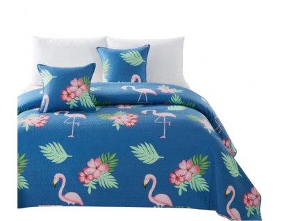 Prehoz na posteľ 160x220 Flamingo