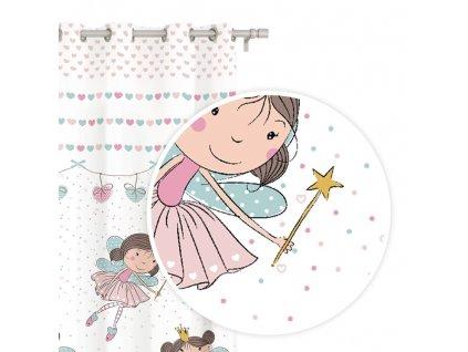 Detská záclona Princess 140x250