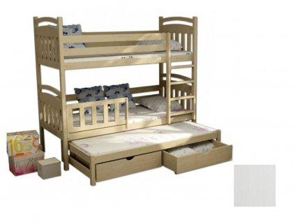 Detská poschodová posteľ s prístelkou Petra 1 180x80