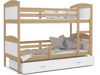 Poschodová posteľ Matúš 2 Color Biela