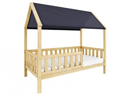 Detská posteľ Domček so strieškou 200x90