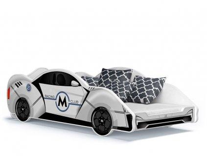 Detská posteľ auto 180x90 - biela