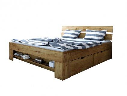 Dubová manželská posteľ Stela