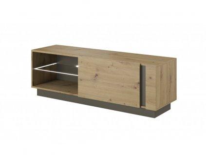 Jednodverový TV stolík Penny - dub