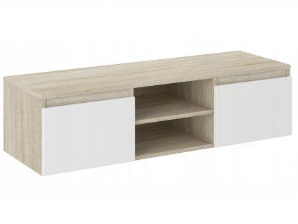 TV stolík Cali - dub sonoma / biela
