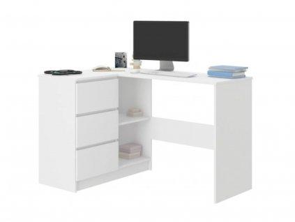 Písací stôl Cali roh / biela