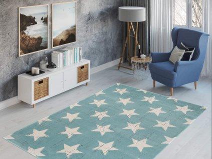 Detský koberec Parma - modrý