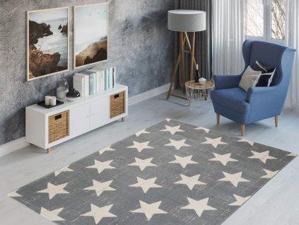 Detský koberec Parma 120x170 - sivý