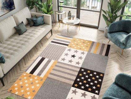 Detský koberec Aurel - žltý
