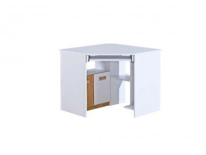 Rohový písací stôl LUCAS L11 - biela