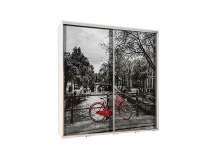 Štýlová skriňa do detskej izby s motívom Amsterdamu