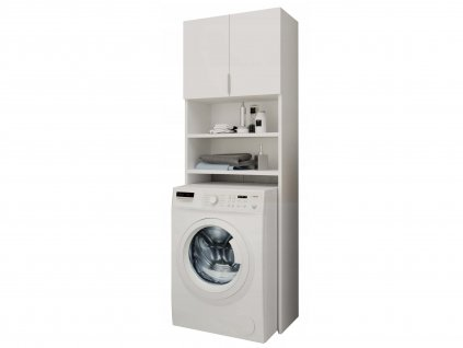 Skrinka nad práčku - biela
