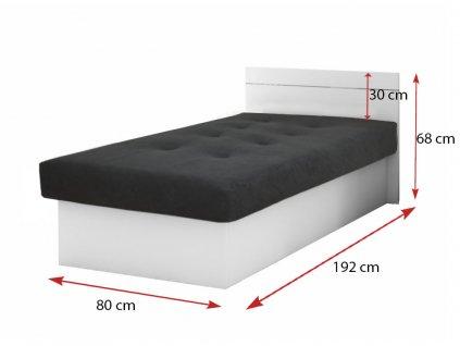 Jednolôžková posteľ Emily Plus biela