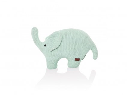 Handmade pletená hračka pre deti Slon - mentolová