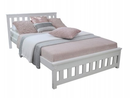 Manželská posteľ Keyla - biela