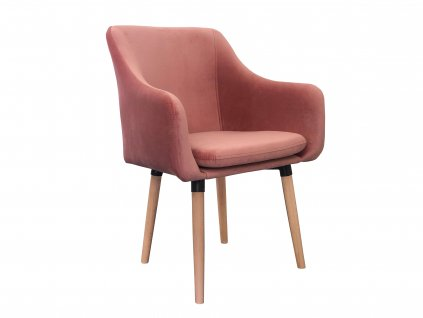 Jedálenská stolička Sola - lososováJedálenská stolička Sola - lososová