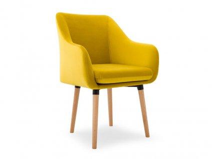 Jedálenská stolička Sola - žltá