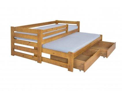 Detská posteľ s prístelkou Veronika 7 90x200 - dub