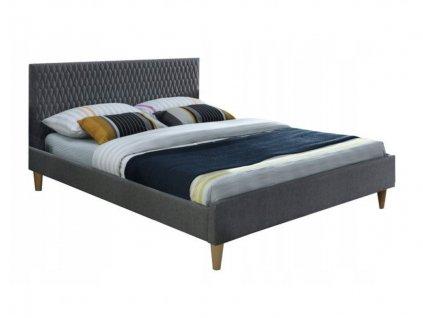 Manželská posteľ Arnica - sivá