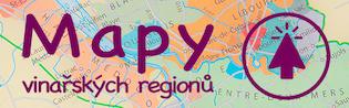 Mapy vinařských regionů Francie