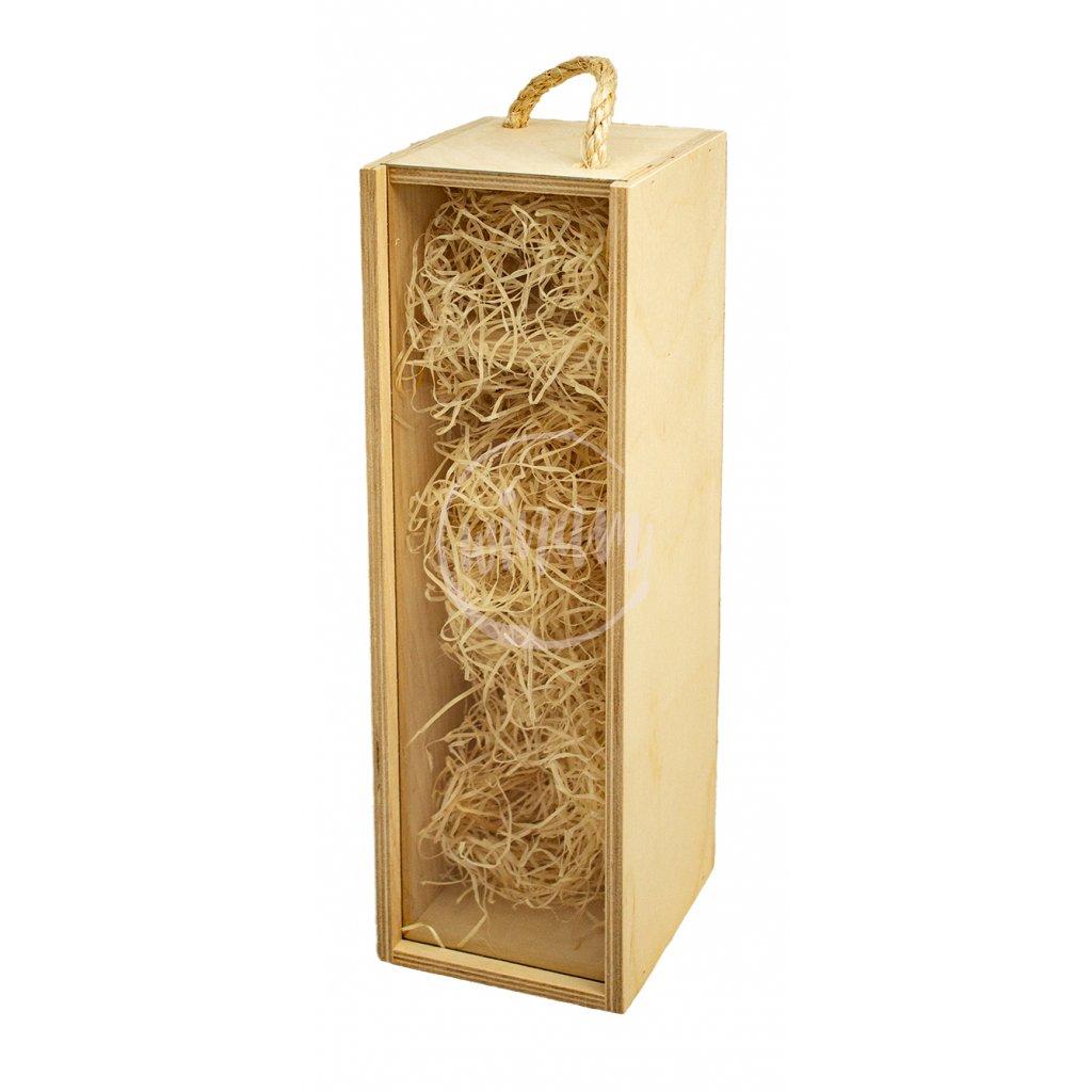 Dřevěná kazeta na 1 víno