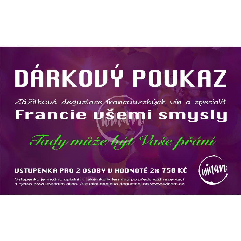 darkovy poukaz degustace 750