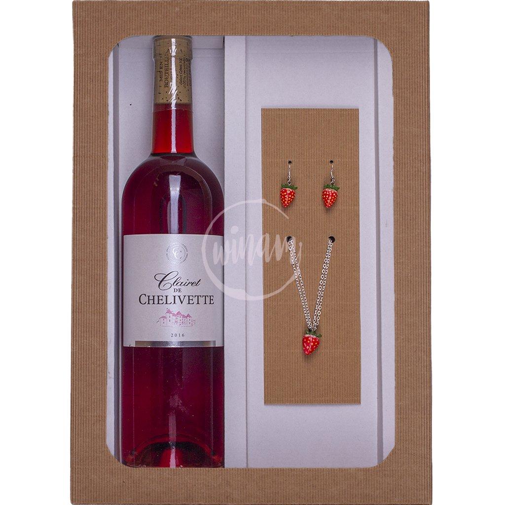 Dárkový set - víno a šperky