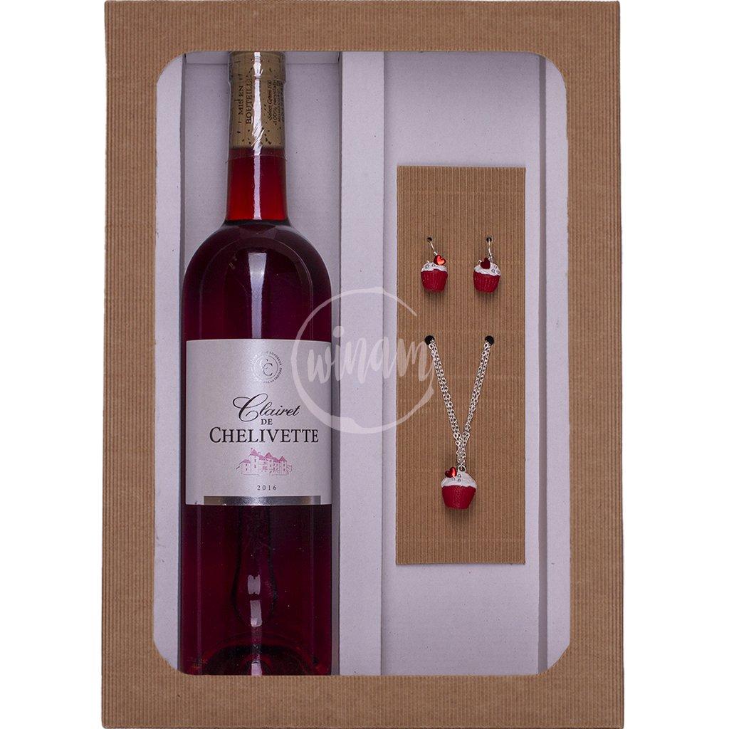 Víno a šperky - dárková sada