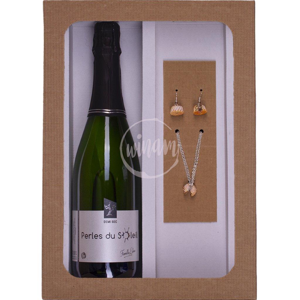 Dárkové balení - víno a šperky
