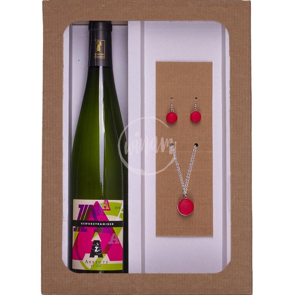 Dárková kazeta víno a šperky