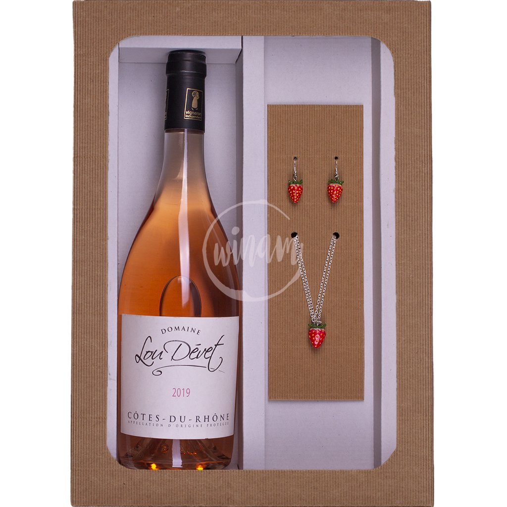 Dárkové víno - růžové víno z Francied