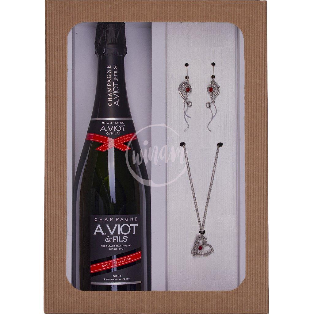 Luxusní dárkové balení vína se šperky