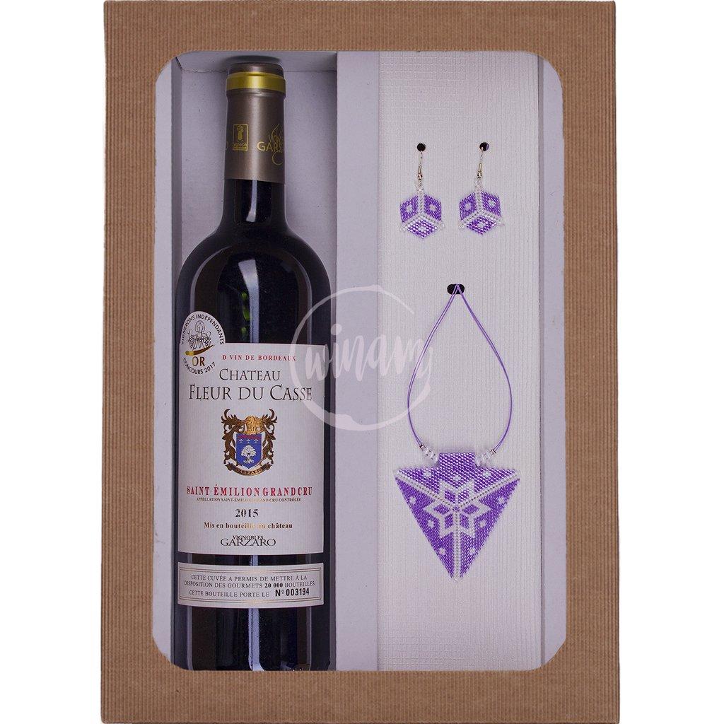 Exkluzivní dárkový set z Bordeaux se šperky