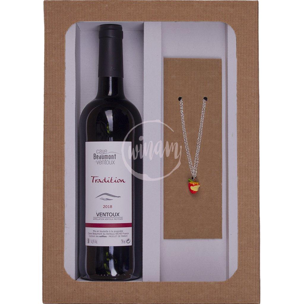 Výhodná sada vína a šperku
