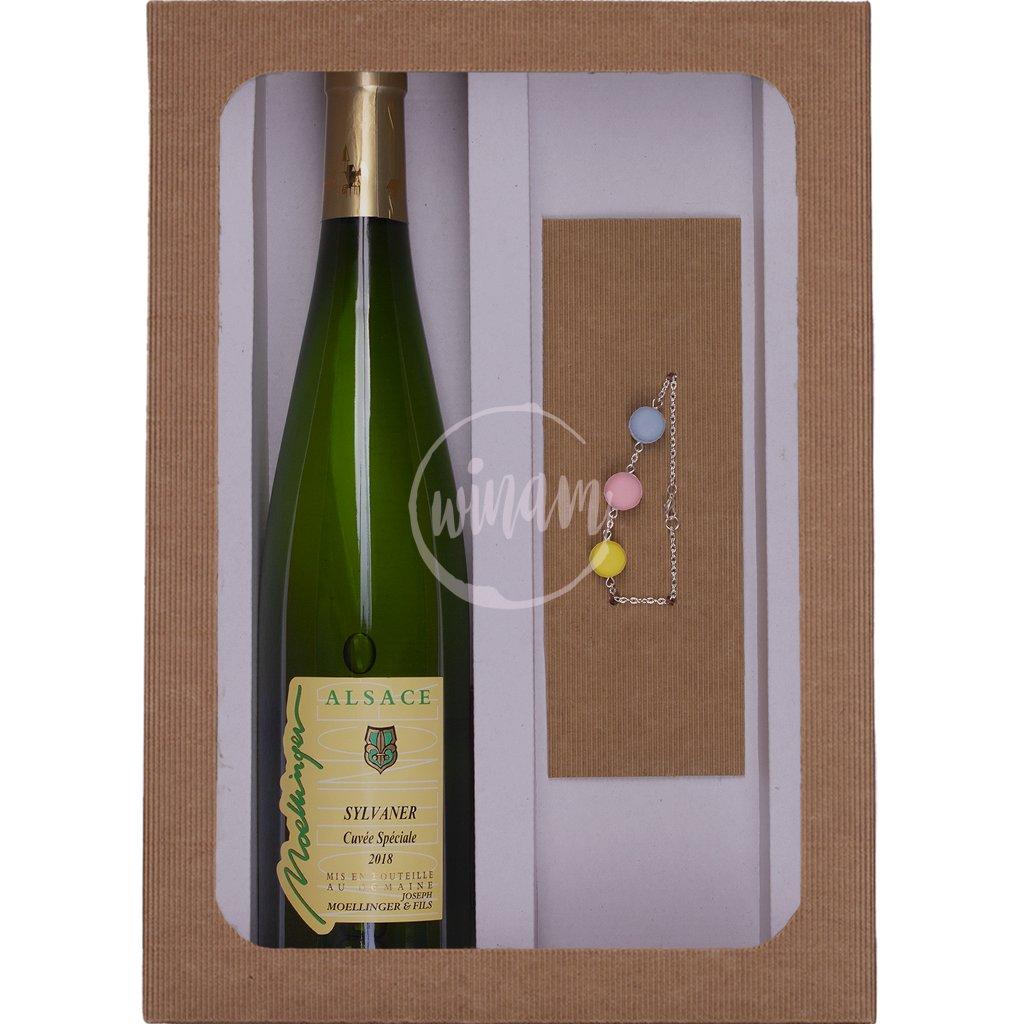 Dárkové balení víno a náramek
