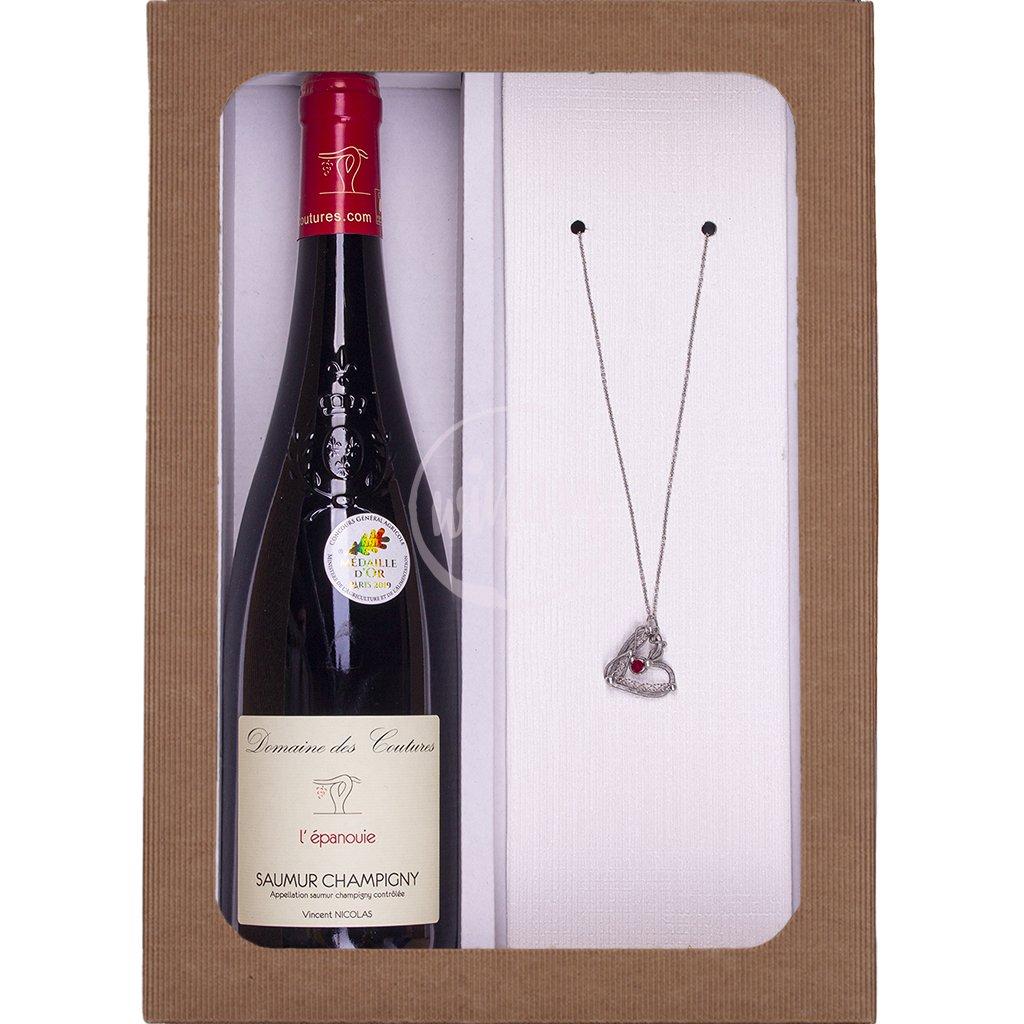 Dárkové víno se šperkem