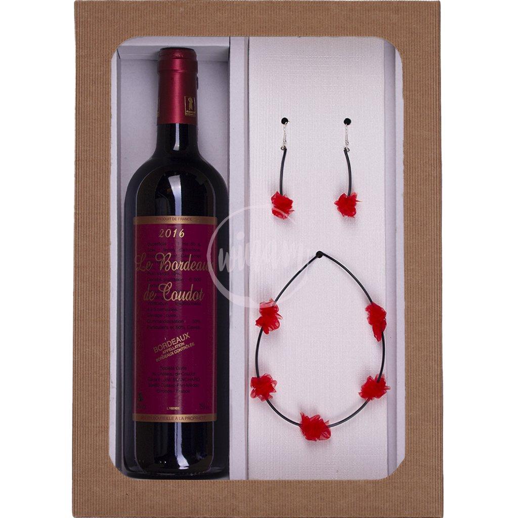 Dárkové víno se šperky