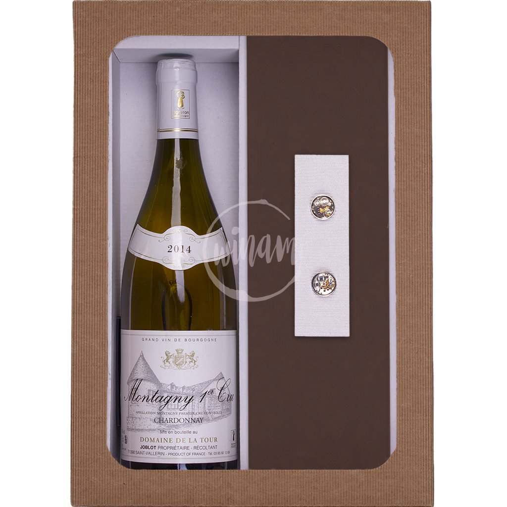 Extravagatní dárek - víno a manžetové knoflíčky