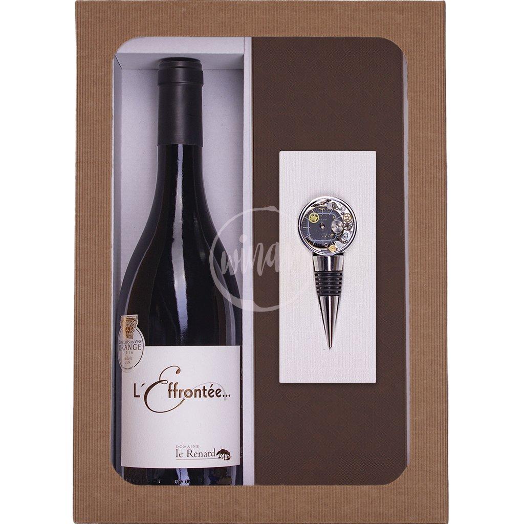 Dárkové víno se zátkou ve tvaru ciferníku